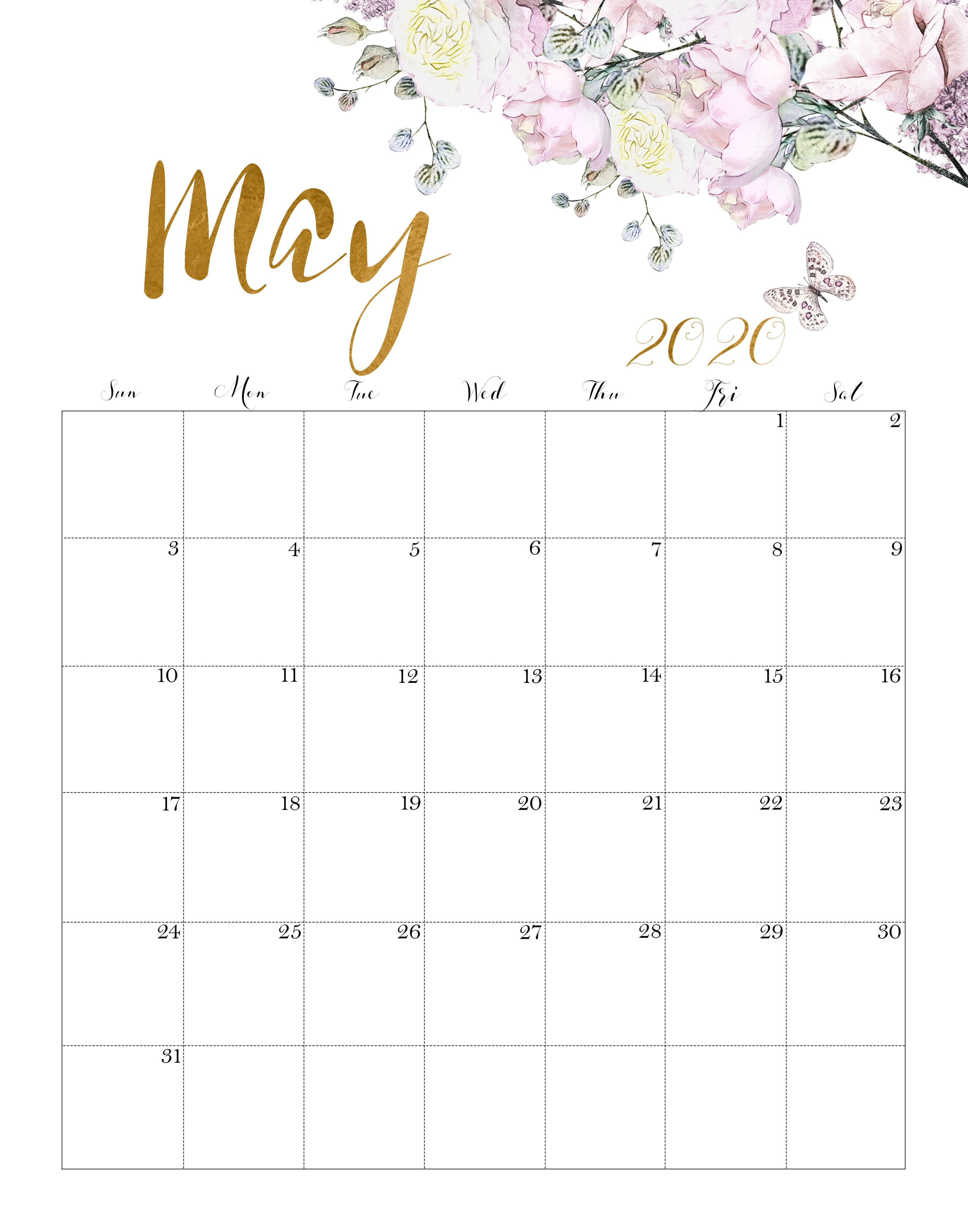 Calendar May 2020 Cute