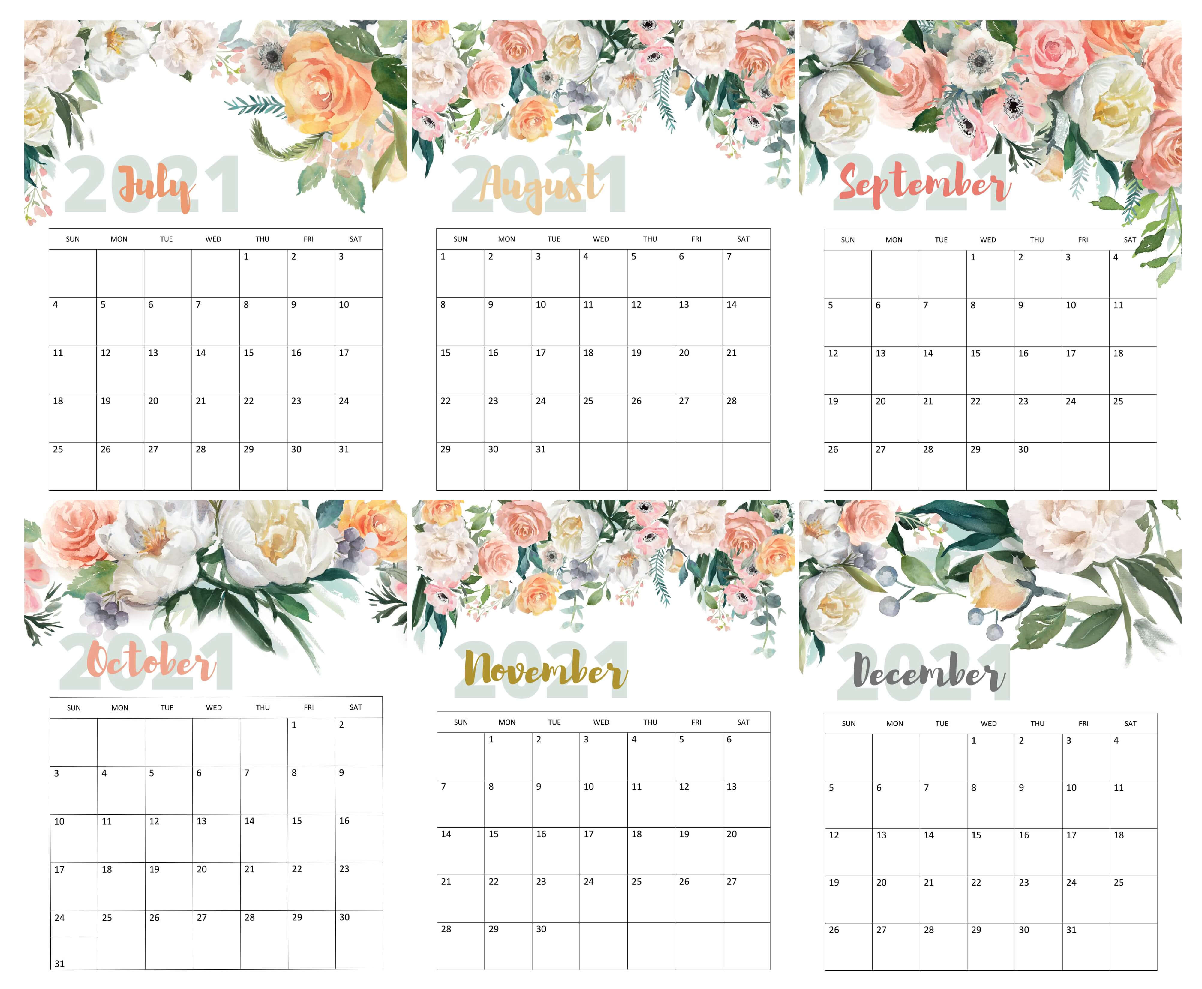 Cute July To August Calendar