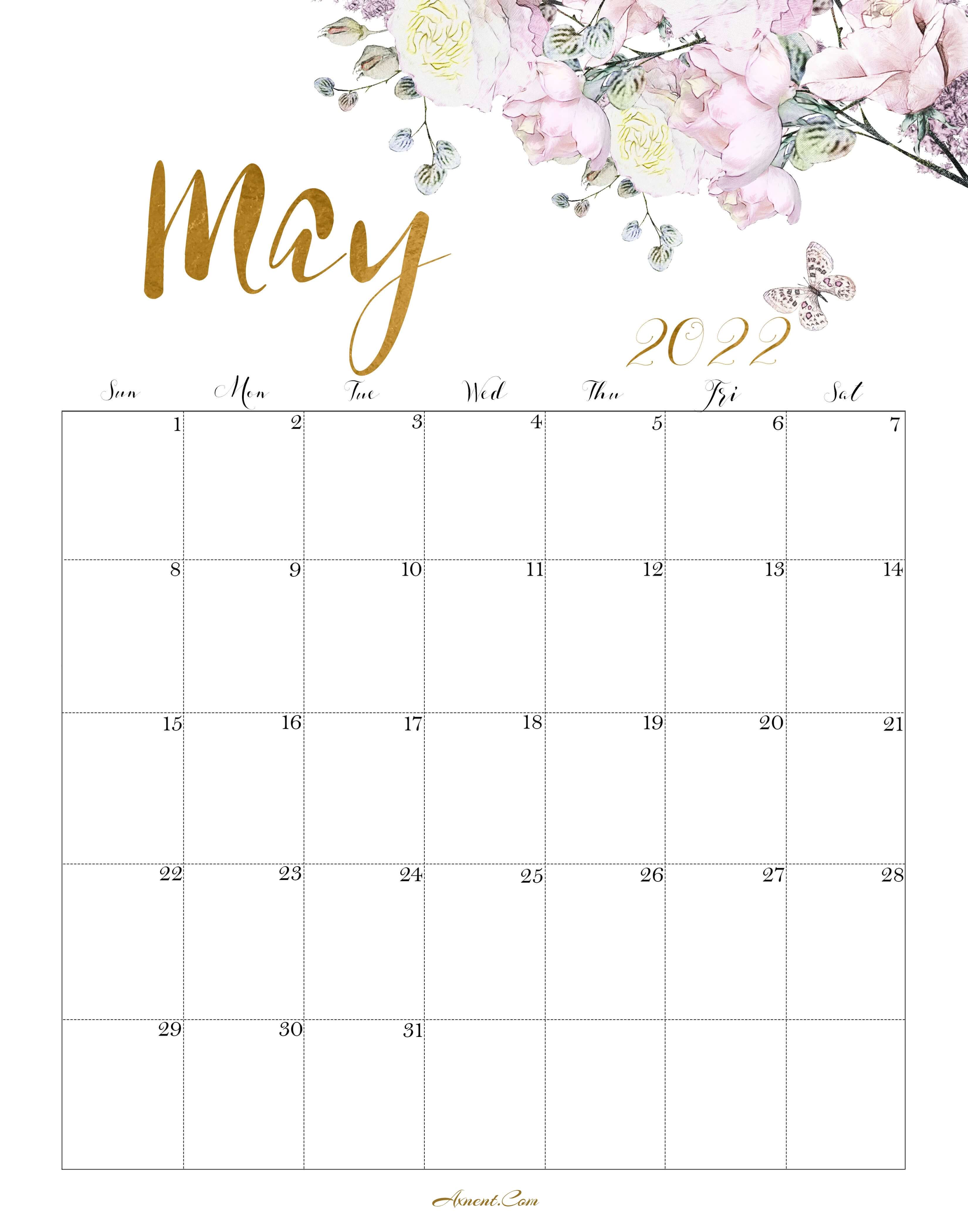 Calendar May 2022 Cute