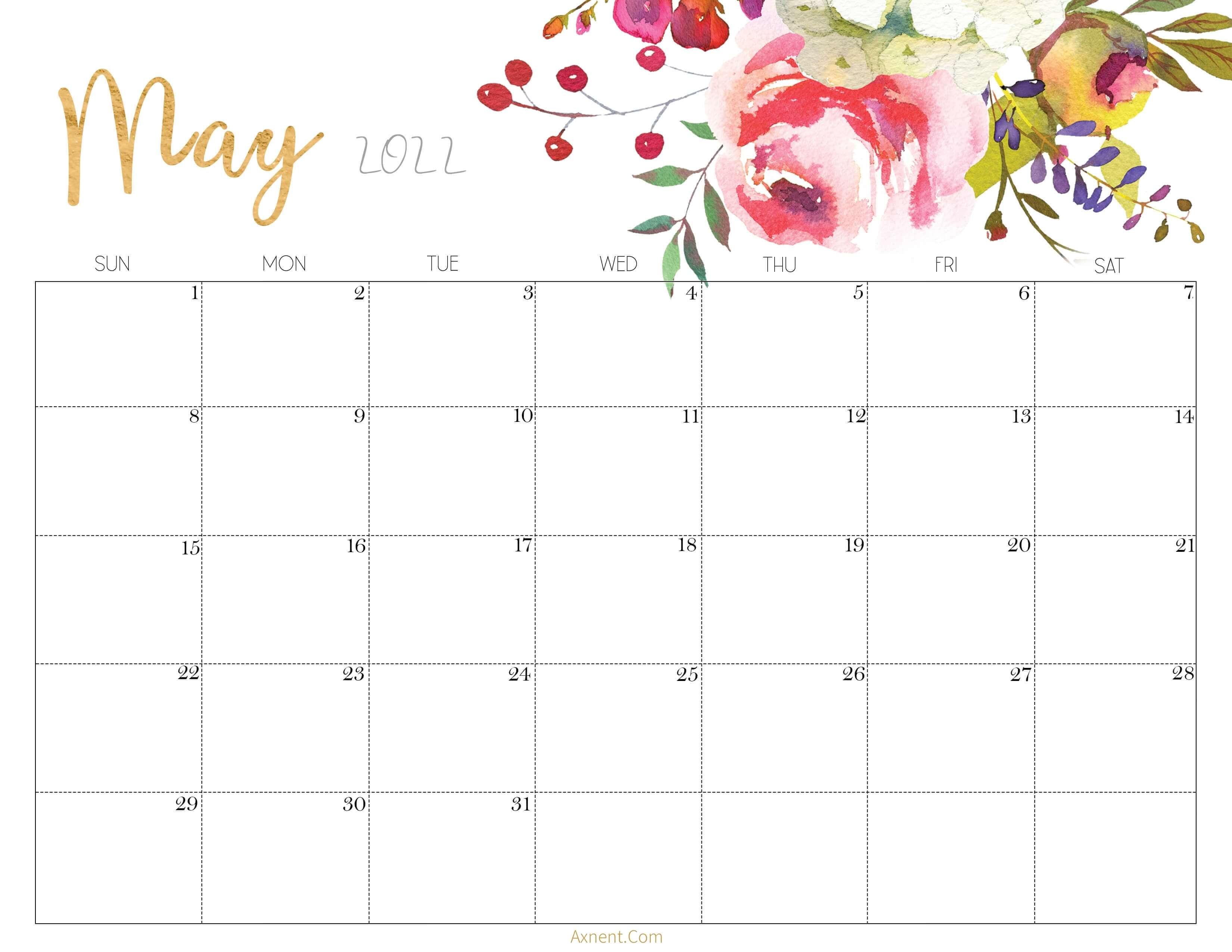 Cute May 2022 Calendar